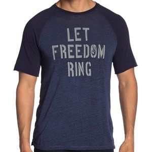 John Varvatos Let Freedom Ring Crew T-Shirt Indigo